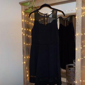 Monteau Black Mini Dress Medium